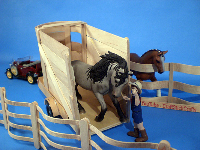 Horse Craft Ideas For Kids Part - 30: ... Craft Stick Horse Trailer
