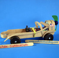 Craft Stick Propeller Car