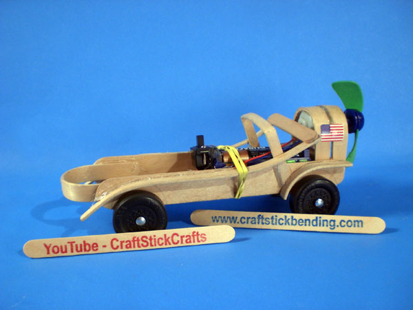 Craft stick bending and craft stick crafts projects for for Car craft for kids
