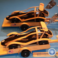Pinewood Derby Car Made of Craft Sticks